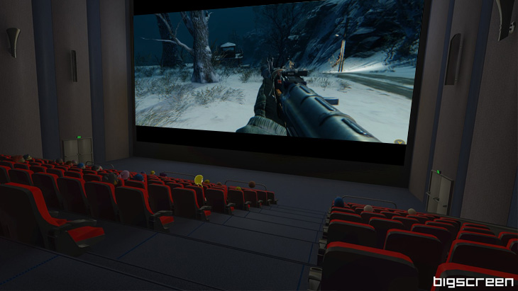 VR巨大スクリーンでゲームができる「Bigscreen beta」